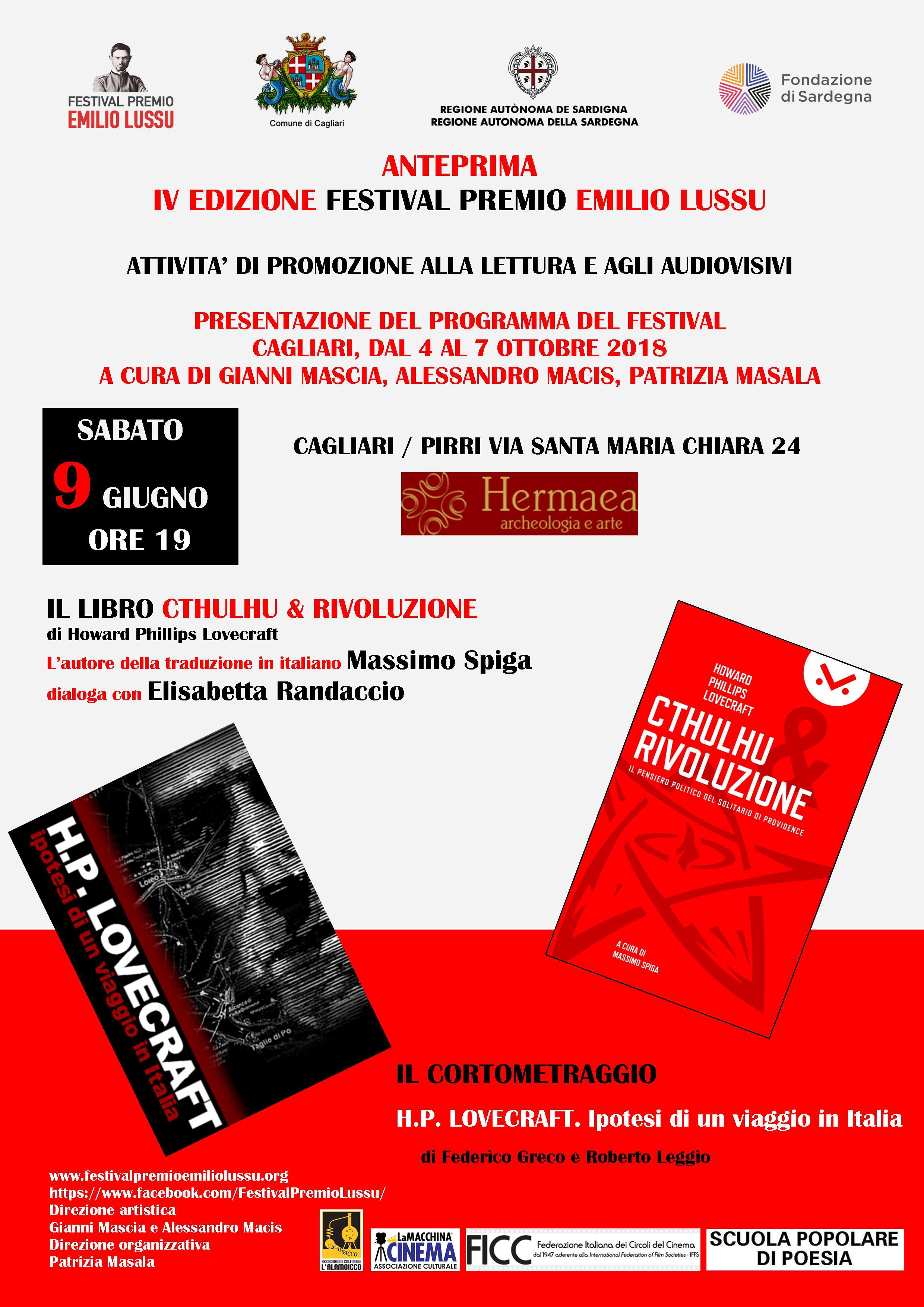 Anteprima IV Ed. Festival Premio Emilio Lussu