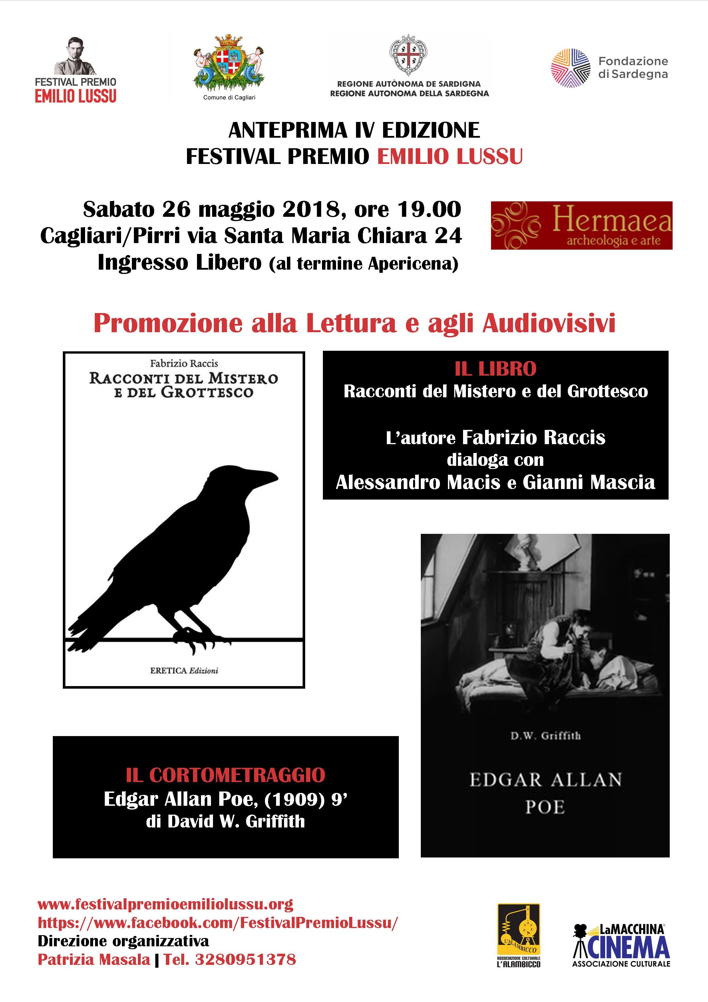 Anteprima Festival Premio Emilio Lussu / Promozione Alla Lettura E Agli Audiovisivi