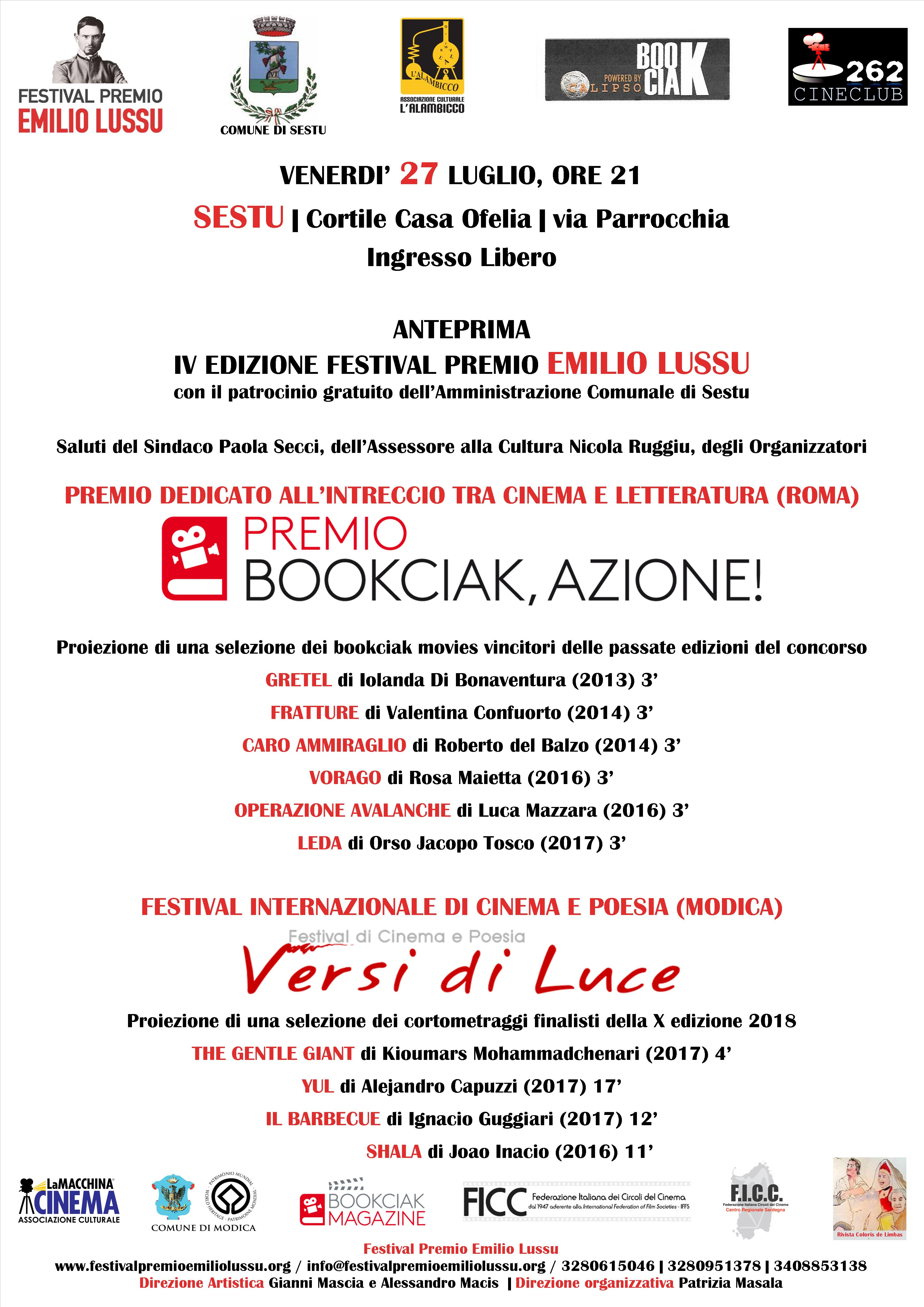 Sestu. Anteprima Festival Premio Emilio Lussu – IV Edizione