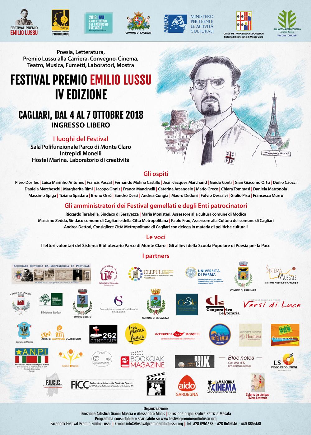 Al Via La IV Edizione Del Festival Premio Emilio Lussu