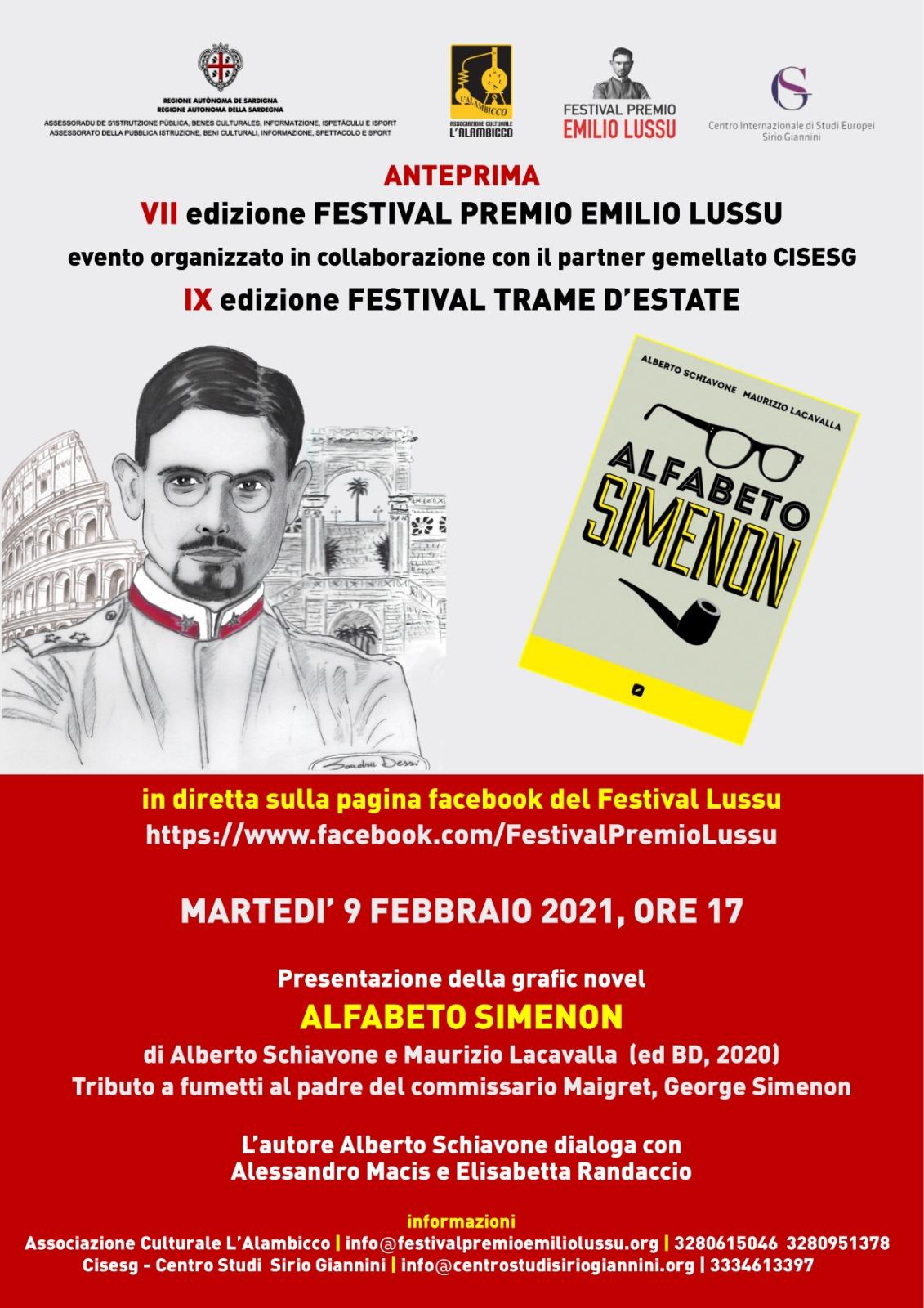 Alfabeto Simenon – Anteprima Del Festival Premio Emilio Lussu VII Edizione