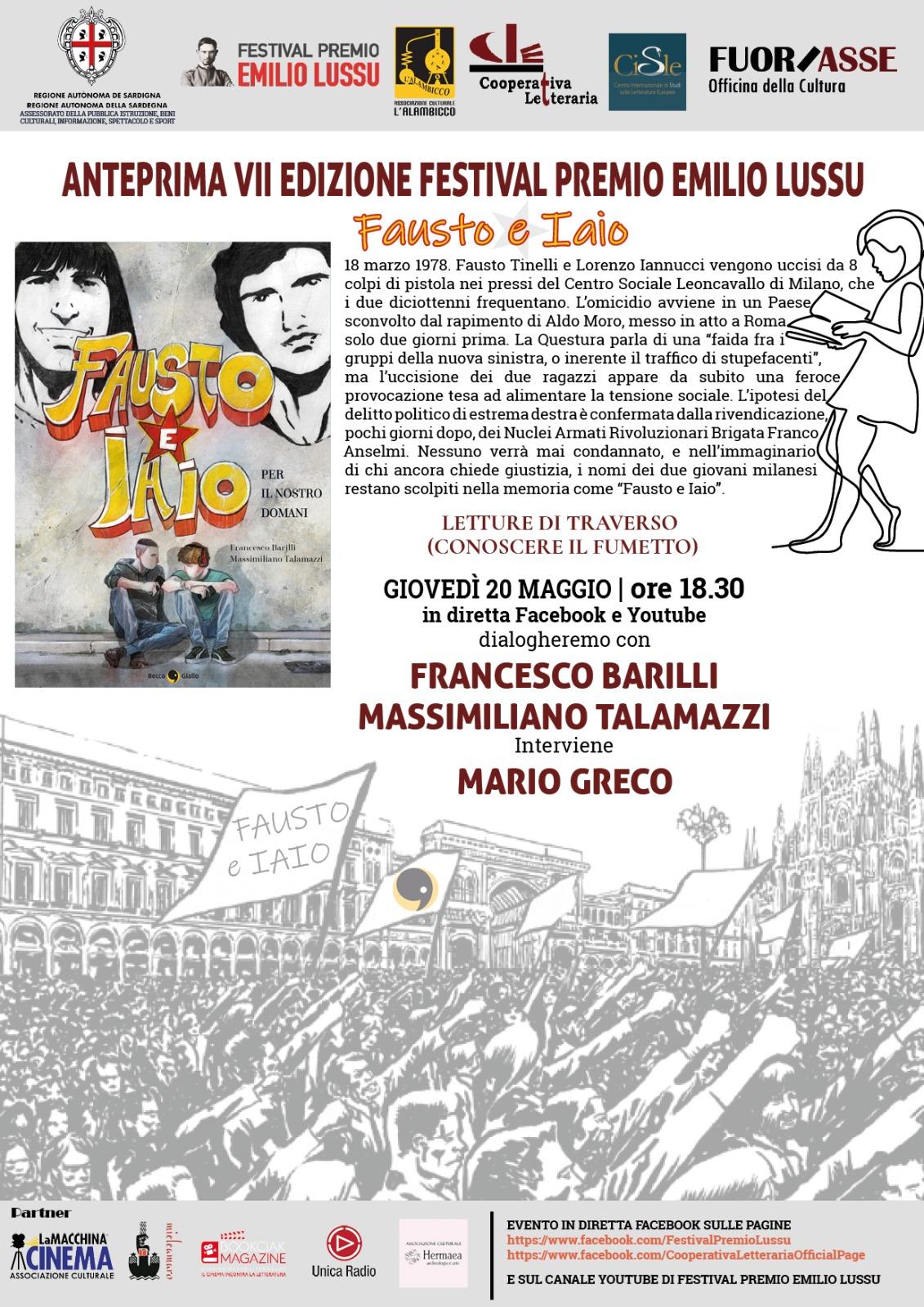 """Presentazione Di """"Fausto E Iaio"""" Di Francesco Barilli E Massimiliano Talamazzi"""