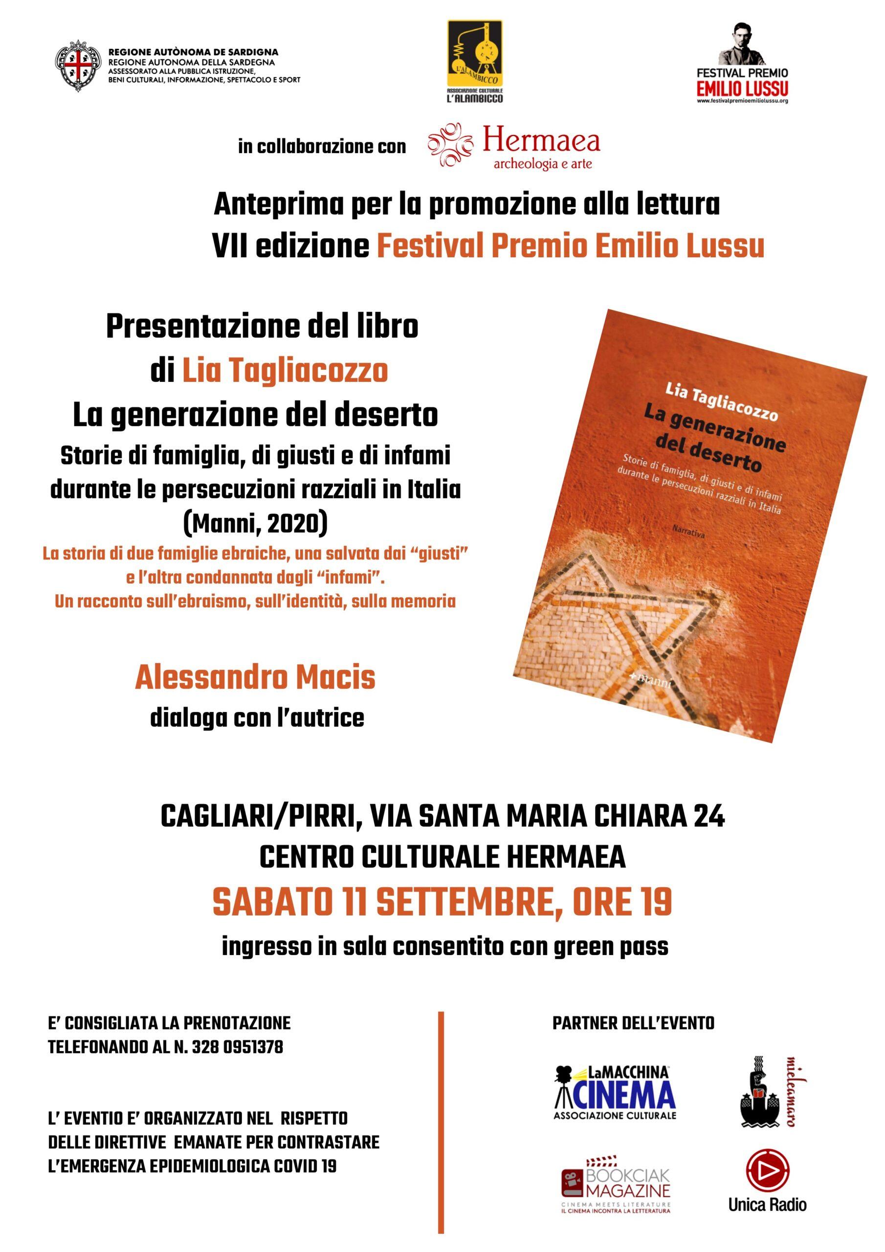 """Presentazione Di """"La Generazione Del Deserto"""" Di Lia Tagliacozzo"""